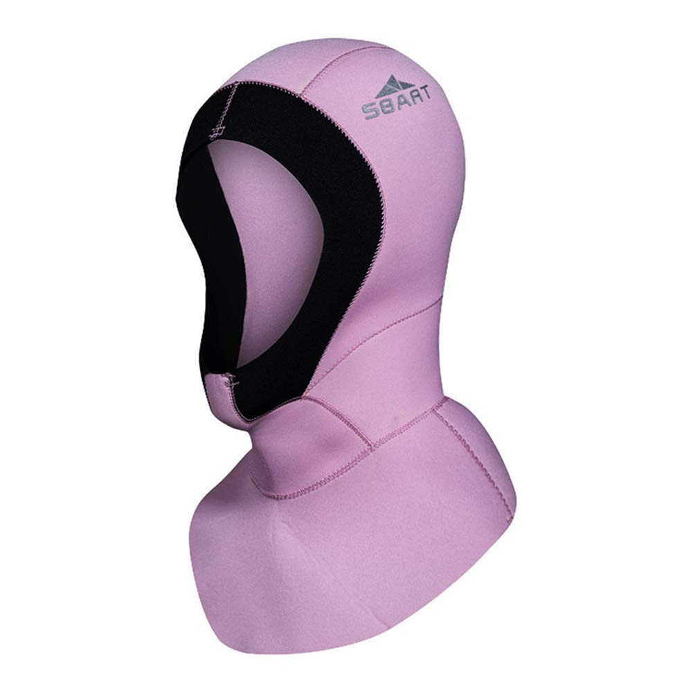 DiNeop Neoprene Scuba Diving Hood 3MM Wetsuit Diving Cap for Men Women Bib Dive Hood Warm Durable Stretchable for Snorkeling Surfing Kayaking Swimming Sailing Canoeing Water Sports