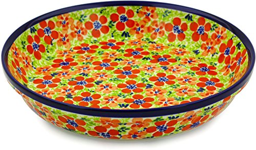 Polish Pottery Pie Dish 10-inch Magnificent Theme by Polmedia Polish Pottery