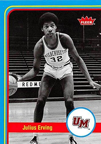 - Julius Erving Basketball Card (Massachusetts Minutemen ) 2013 Fleer Retro #50
