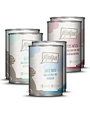 MjAMjAM - Premium Nassfutter für Katzen - Mixpaket II - Wild & Kaninchen, Pute, Ente & Geflügel, 6er Pack (6 x 400 g), getreidefrei mit extra viel Fleisch
