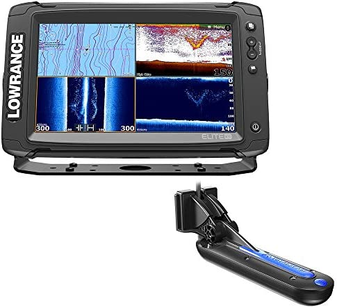 Lowrance Elite-9 Ti Chartplotter Fishfinder w TotalScan Transom Mount Transducer Insight Pro by C-Map Chart