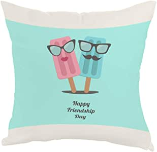 happy friendship day Printed Pillow, Fabric Canvas 40X40 cm