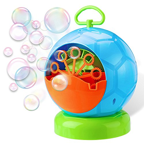 01 Barbecue - Leedemore Bubble Machine, Automatic Durable Bubble Blower for Kids, Soap Bubbles Maker for Christmas, Parties, Barbecue, Ball, Wedding