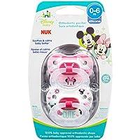 Chupador NUK Disney Baby Puller, 0-6 meses, niña /Minnie Mouse, 1 pk