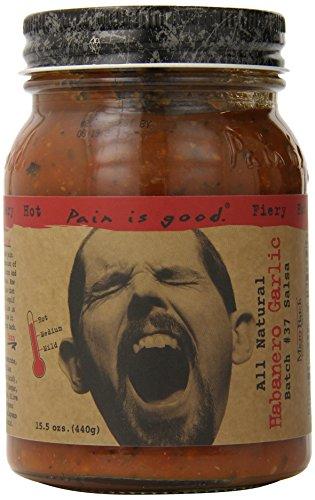Pain Is Good Habanero Garlic Salsa Sauce, 15.5 Ounce