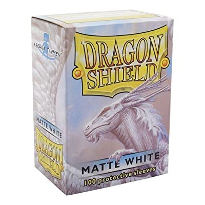 Dragon Shield Matte White Matte 100 Deck Protective Sleeves in Box, Standard Size for Magic he Gathering (66x91mm): Toys & Games
