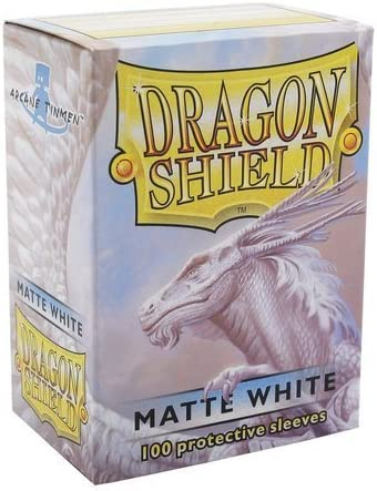 100 Sleeves Dragon Shield Magic Matte Ivory Protective Bags Ivory White