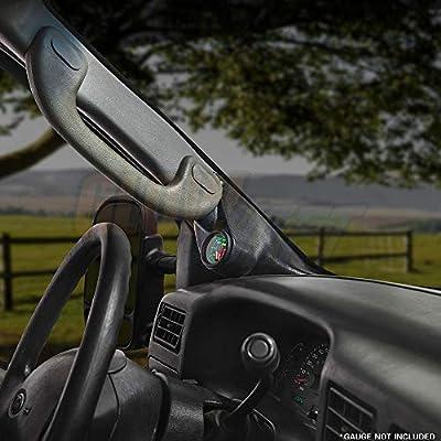 "GlowShift Black Single Pillar Gauge Pod for 2003-2007 Ford Super Duty F-250 F-350 Power Stroke - Grab Handle Cutout - ABS Plastic - Mounts (1) 2-1/16"" (52mm) Gauge to Truck's A-Pillar: Automotive"