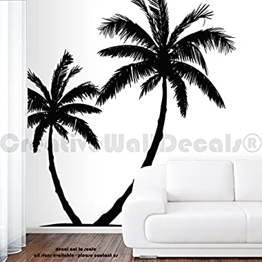 Wall Decal Vinyl Sticker Decals Art Decor Design Couple Palm Branch Beach Tree Hawaii Sun Summer Surf Dorm Bedroom Mural Modern Dorm (r647)