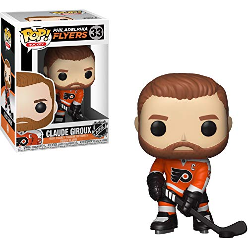 (Funko Claude Giroux [Philadelphia Flyers]: NHL x POP! Hockey Vinyl Figure & 1 POP! Compatible PET Plastic Graphical Protector Bundle [#033 / 34315 - B])