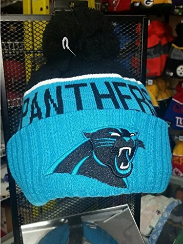 Men's New Era NFL 2015 Carolina Panthers Sport Knit Hat Blue/Black Size One Size