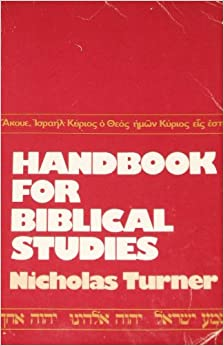 Book Handbook for Biblical Studies