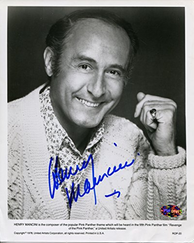 HENRY MANCINI Signed Rare 1978 Revenge of the PINK PANTHER Publicity Photograph PSA/DNA Authentic Auto 8x10 Photo Composer (d.1994) 4x Academy Award and 10x Grammy Winner -