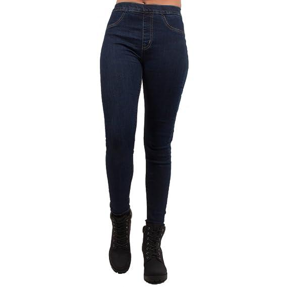 1ac52f1dab Jegging femme forme jean taille haute élastique - Brut - Taille 38:  Amazon.fr: Vêtements et accessoires