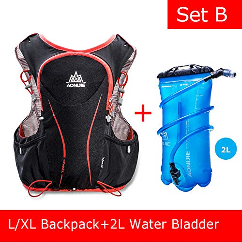 POJNGSN Hydration Pack Backpack Rucksack Bag Vest Harness Water Bladder Hiking Camping Running Race Sports 5L Set B by POJNGSN (Image #1)