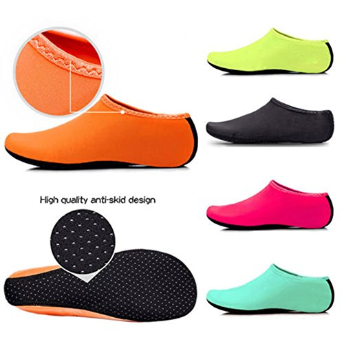 Chaussettes En Sport Plein Plonge Air De D'eau Natation Yoga slip Xxl Orange ~ Plage Unis Chaussures Piscine Anti Distinct Xs pnxq71t