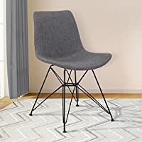 Armen Living LCPLCHBLCH Palmetto Dining Chair, CHARCOAL
