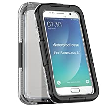 Samsung Galaxy S7 Waterproof Case [New Version] IP68 Waterproof Snowproof Dirtpoof Shock Resistant Protective Case Cover with Viewing Kickstand Fingerprint Recognition Touch ID for Galaxy S7 (black)