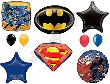 "18/"" BATMAN supplies PARTY BALLOONS SUPERMAN decorations Party JUSTICE LEAGUE"