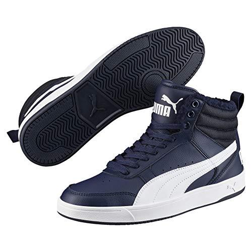 Peacoat Puma Rebound 06 Fur Unisex puma Erwachsene Blau White Street Hohe Sneaker V2 61w1Sq