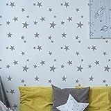 Scattered Stars Nursery Pattern Stencil | Girls Or Boys Nursery Home Wall Decorating & Craft Stencil | Paint Walls Fabrics & Furniture | 190 Mylar Reusable Stencil (XL/50X75CM)