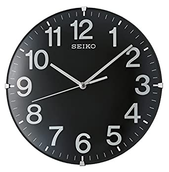 Seiko Unisex Plastic Wall Clocks Black QXA656 K Amazoncouk Watches