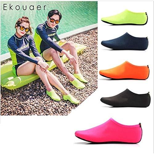 HATCHMATIC Calcetines 1 Negro Snorkeling Buceo Zapatos Azul Rosa Cubierta sólida x Antideslizante de la Playa par de natación Amarillo Naranja: type22, China