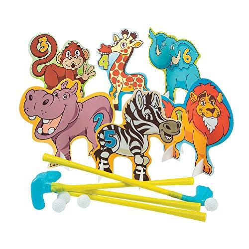 Fun Express Zoo Animal Golf Set - 26 Pieces]()