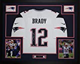 Tom Brady Autographed & Framed White Patriots Nike Jersey Tristar COA D13-L (Free Shipping!!)