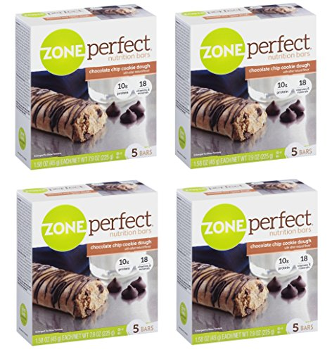 UPC 759473575231, Zone Perfect Nutrition Bars, Chocolate Chip Cookie Dough, 1.58-Ounce, 20 Count
