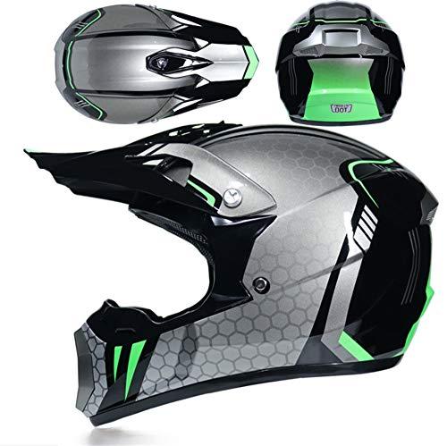 YH-jm Downhill DH Todoterreno Moto Casco MX Full Helmet Adultos Hombres y Mujeres,A6,XL