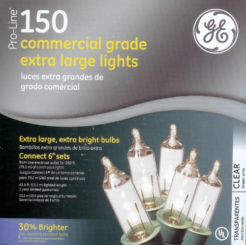 Ge Pro-Line 150 Commercial Grade Extra Large Clear Christmas Lights