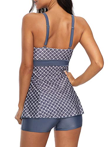 30f68dfbbef5d Zando Women's Slimming Tummy Control Swimdress Swimwear Long Torso Tankini  Swimsuit Retro Skirt Swimming Suit for