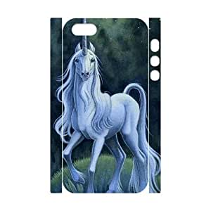 DIY Phone Case with Hard Shell Protection for Iphone 5,5S 3D case with Unicorn lxa#442777