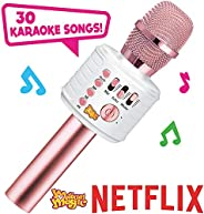 Motown Magic Bluetooth Karaoke Microphone, Pink, for Girls, for 4 5 6 7 8 Year Old Girls