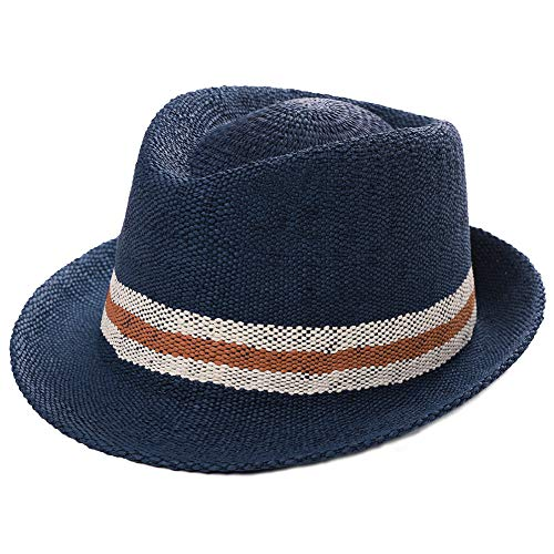 Mens Straw Cuban Fedora Brim Panama Beach Havana Summer Sun Derby Hat