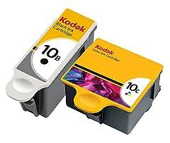 Kodak 10 black and 10C color ink cartridges 2 pack in original bulk foil packaging.  Kodak All-in-One Machines: EasyShare 5100, EasyShare 5300, EasyShare 5500, ESP 3, ESP 3250, ESP 5, ESP 5250, ESP 7, ESP 7250, ESP 9, ESP 9250, ESP Office 615...