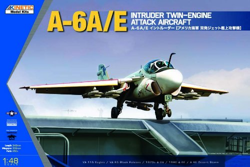 Kinetic A6A/E Intruder Twin-Engine Attack Aircraft Model Kit, Scale 1/48