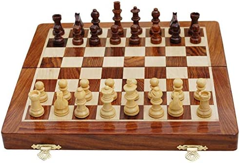 BEST Chess 10 Inches Wooden Premium Handcrafted Magnetic Chess Set with Chess Pieces: Amazon.es: Juguetes y juegos