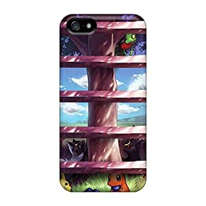 Cool Hard Plastic Iphone 5s Case Back Cover,hot Pokemon Tree Shelves Case At Perfect Diy