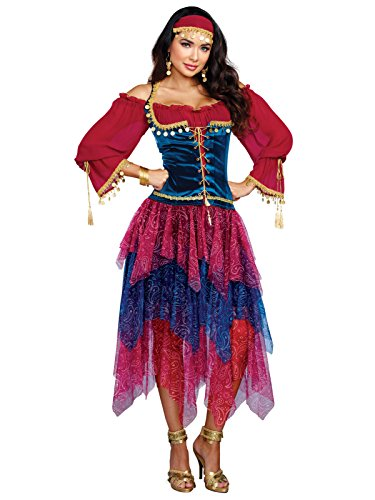 Dreamgirl Women's Gypsy, Multi, L - Woman Gypsy Costumes