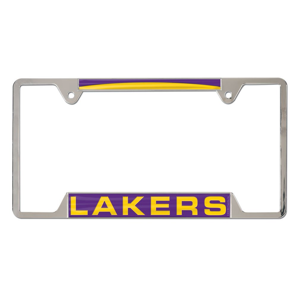 NBA Los Angeles Lakers Inlaid Metal License Plate Frame, 4-Tag Corners