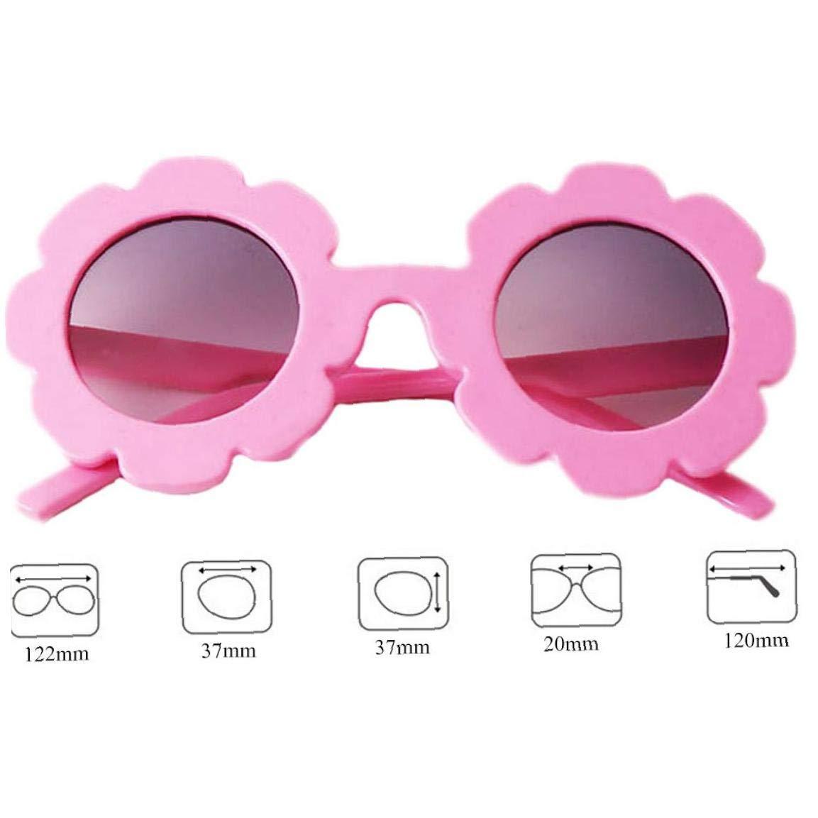 Children Cute Glasses With Sun Flower Frame Round UV Protection Eyewear For Boy Girls Lovely Toddler Glasses