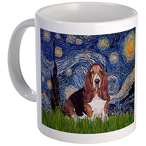 CafePress - Starry / Basset Hound Mug - Unique Coffee Mug, Coffee Cup