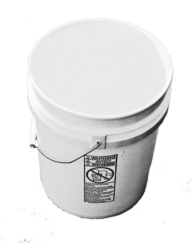 5 Gallon Plastic Bucket Natural-3 Pack