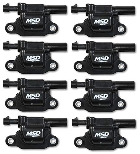 MSD 826683 Coils, Blk, Square, 14 and up GM V8, 8-Pk