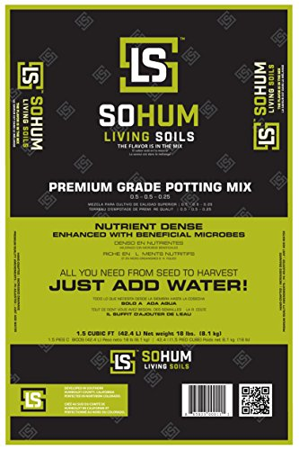 SOHUM Living Soil, Organic Fertilizer, Organic Plant Food, Soil Amendment. Increases Yields. Vegetable Fertilizer, Flower Fertilizer. Non-GMO. Eco-Friendly. Just Add Water! No Mixing (1)