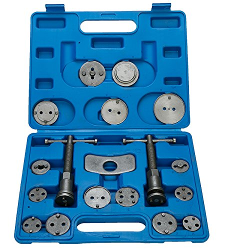 8MILELAKE 18PC Heavy Duty Disc Brake Caliper Tool Set and Wind Back Kit for Brake Pad Replacement (Brake Caliper Replacement Pads)