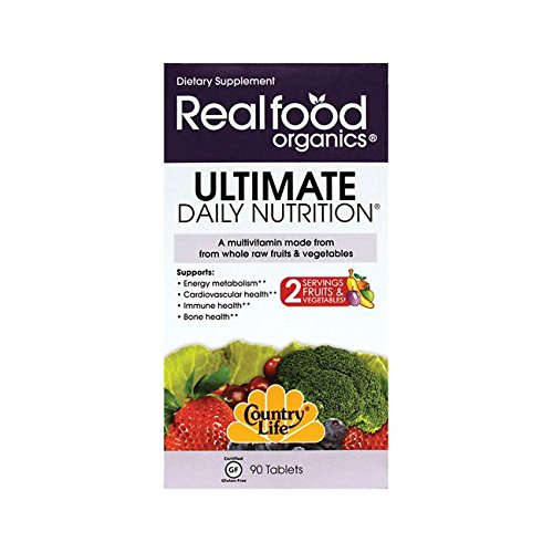 Country Life Realfood Organics - Ultimate Daily Nutrition Multivitamin - 90 Easy-to-Swallow ()