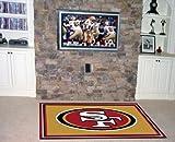 "Fan Mats San Francisco 49ers Rug, 46"" x 72"""